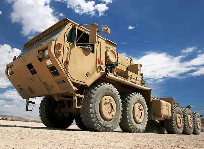 US Army Expedient Leader Follower convoy vehicle