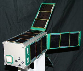 Alta Devices solar cell powered satellite