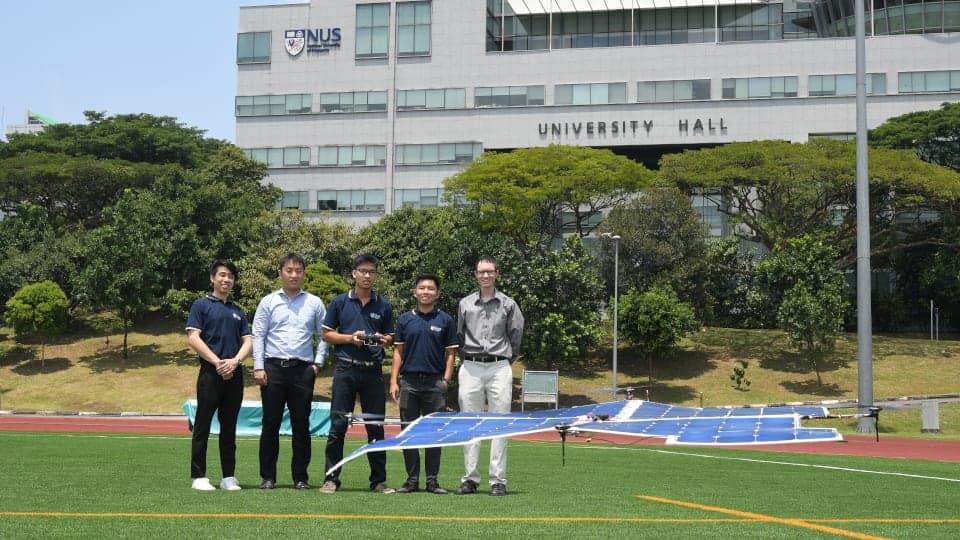 National University of Singapore solar-powered quadcopter