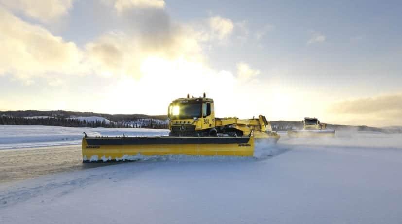 Autonomous snowplough