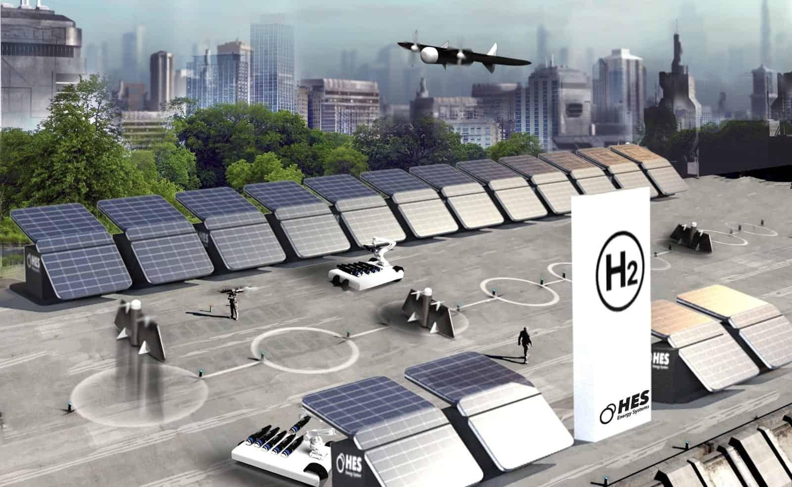 Hydrogen drone base