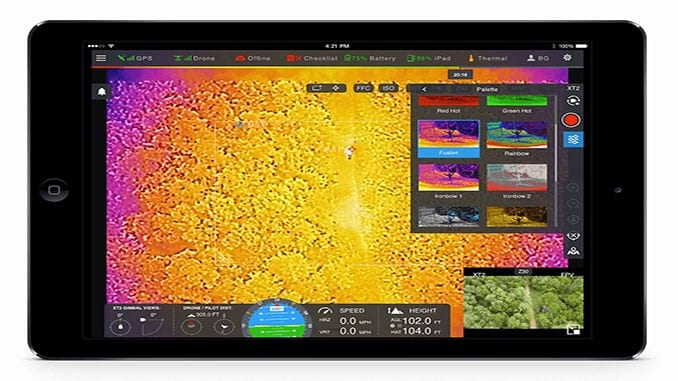 Drone Software Platform Combines Thermal and Visual Imaging