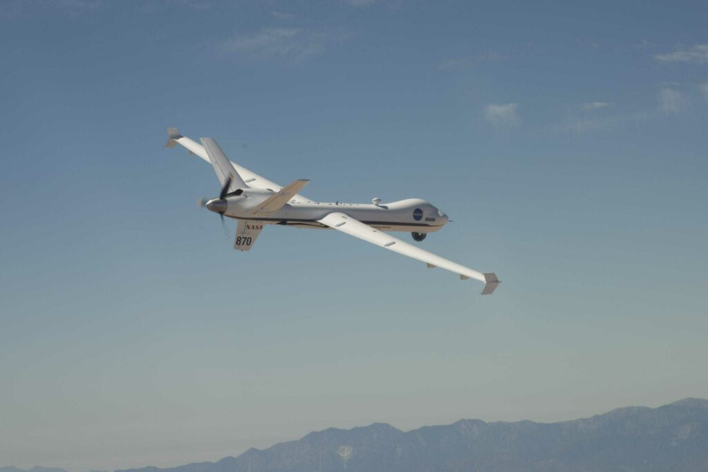 Fixed wing UAS flying