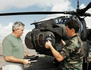 Helicopter with Flir and fire control system