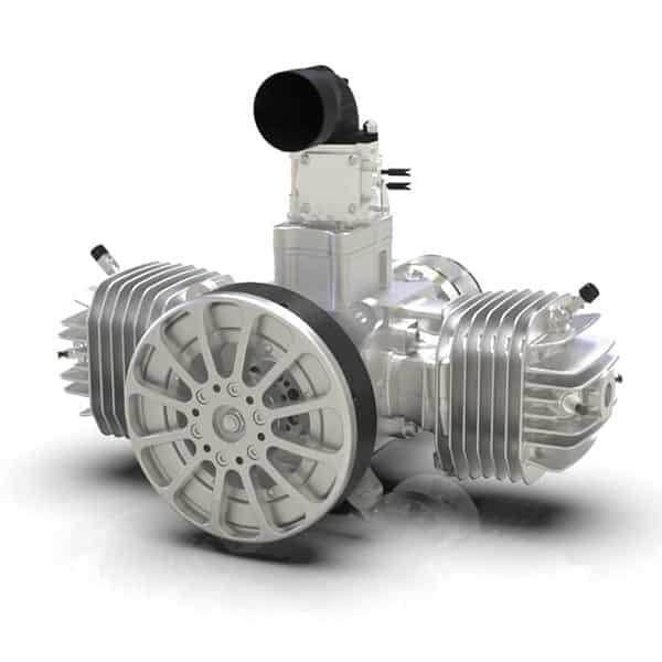 SP-275 2-Cylinder Gas-Engine for high speed training flights
