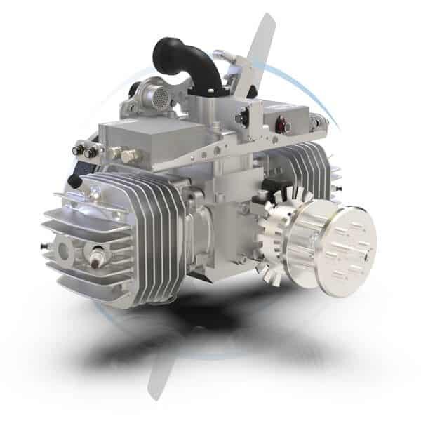 SP-275 FI TS 2 Cylinder Gas UAV Engine