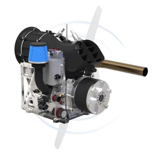 SP-55-FI-TS-hybrid UAV engine