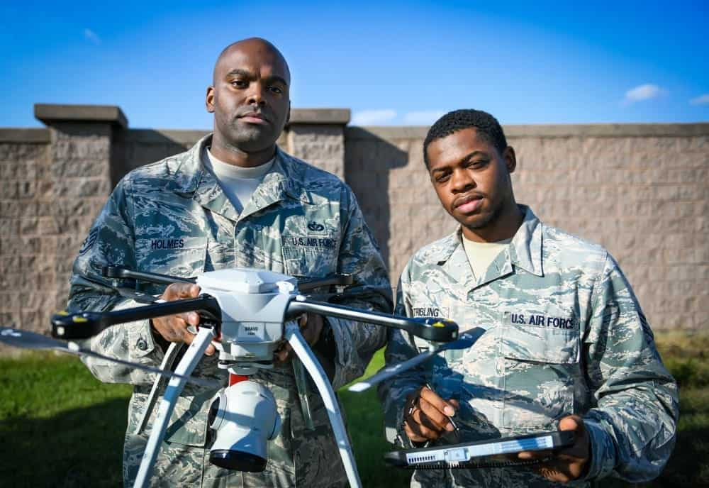US Air Force drone operators