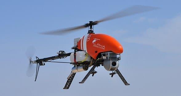 Alpha 800 helicopter UAV