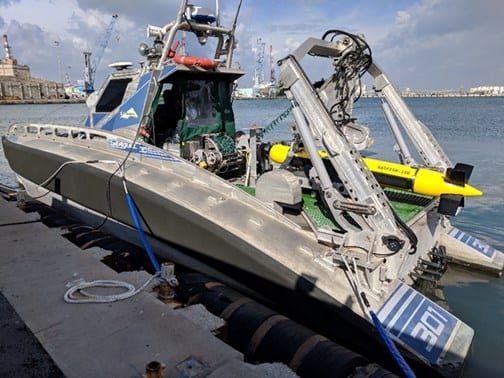 Elbit Seagull USV with KATFISH sonar