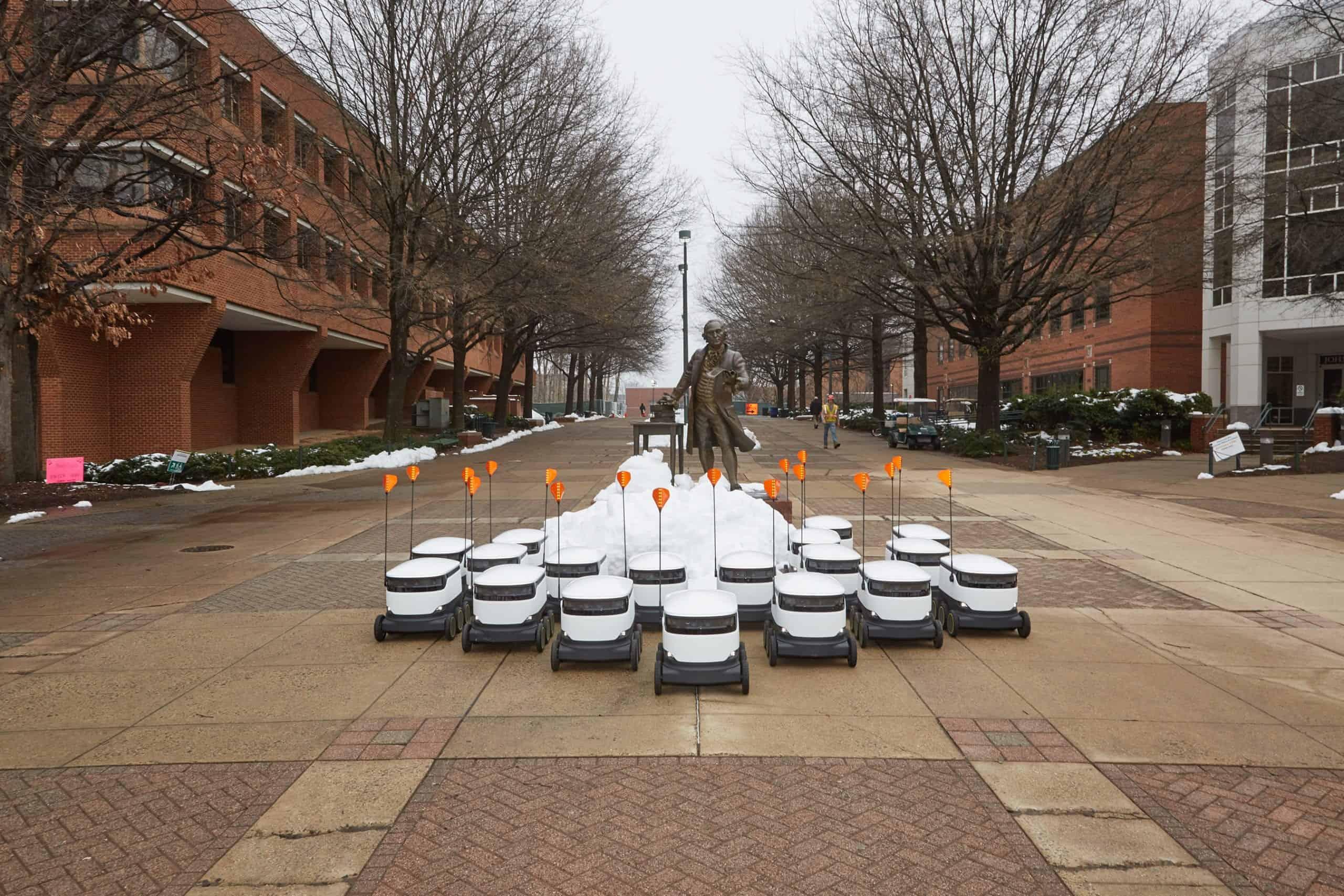 Sodexho delivery robots