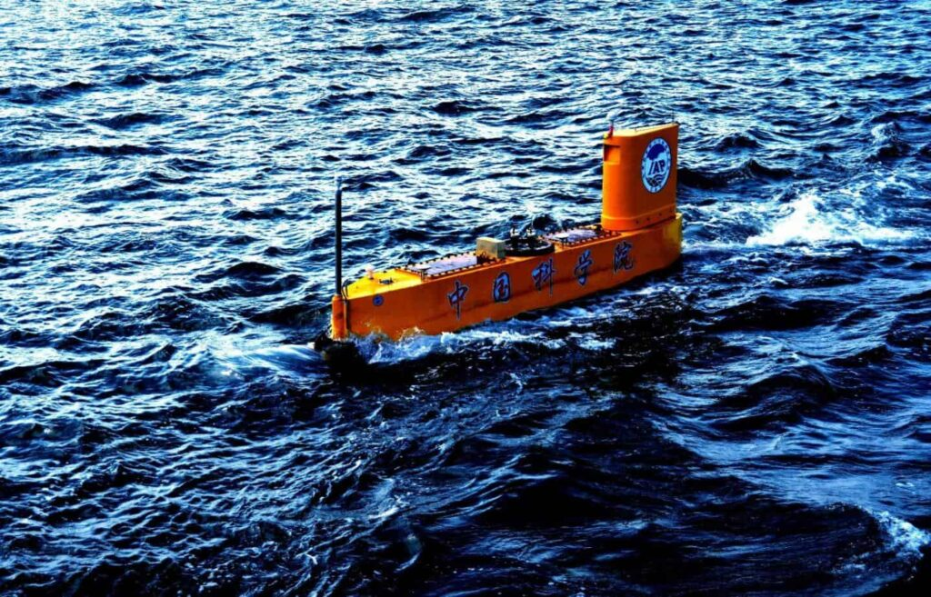 Unmanned semi-submersible vehicle for meteorological research