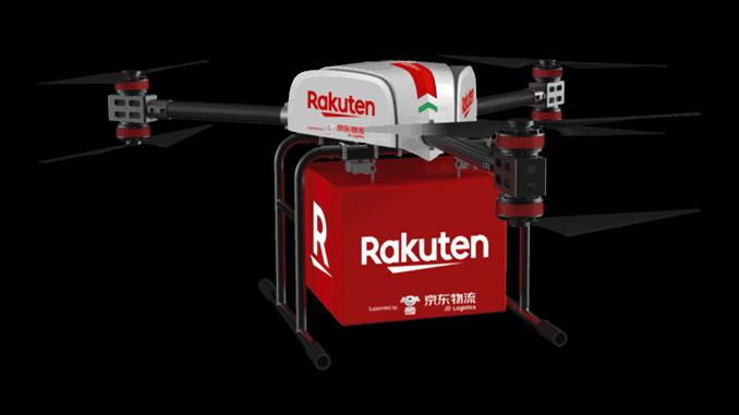 Rakuten and JD autonomous delivery drone