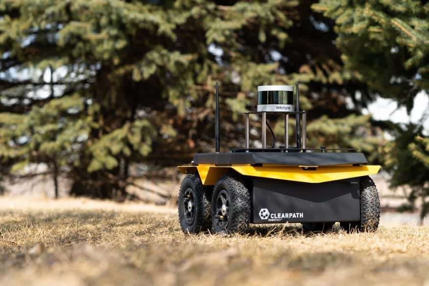 Clearpath Robotics vehicle with Velodyne sensor