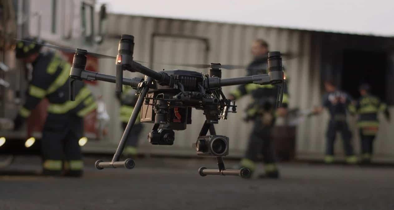 DJI firefighting drone