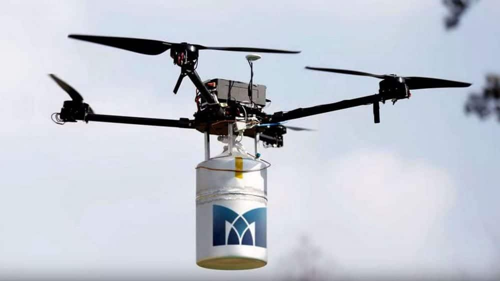MetaVista quadcopter with Intelligent Energy fuel cell module