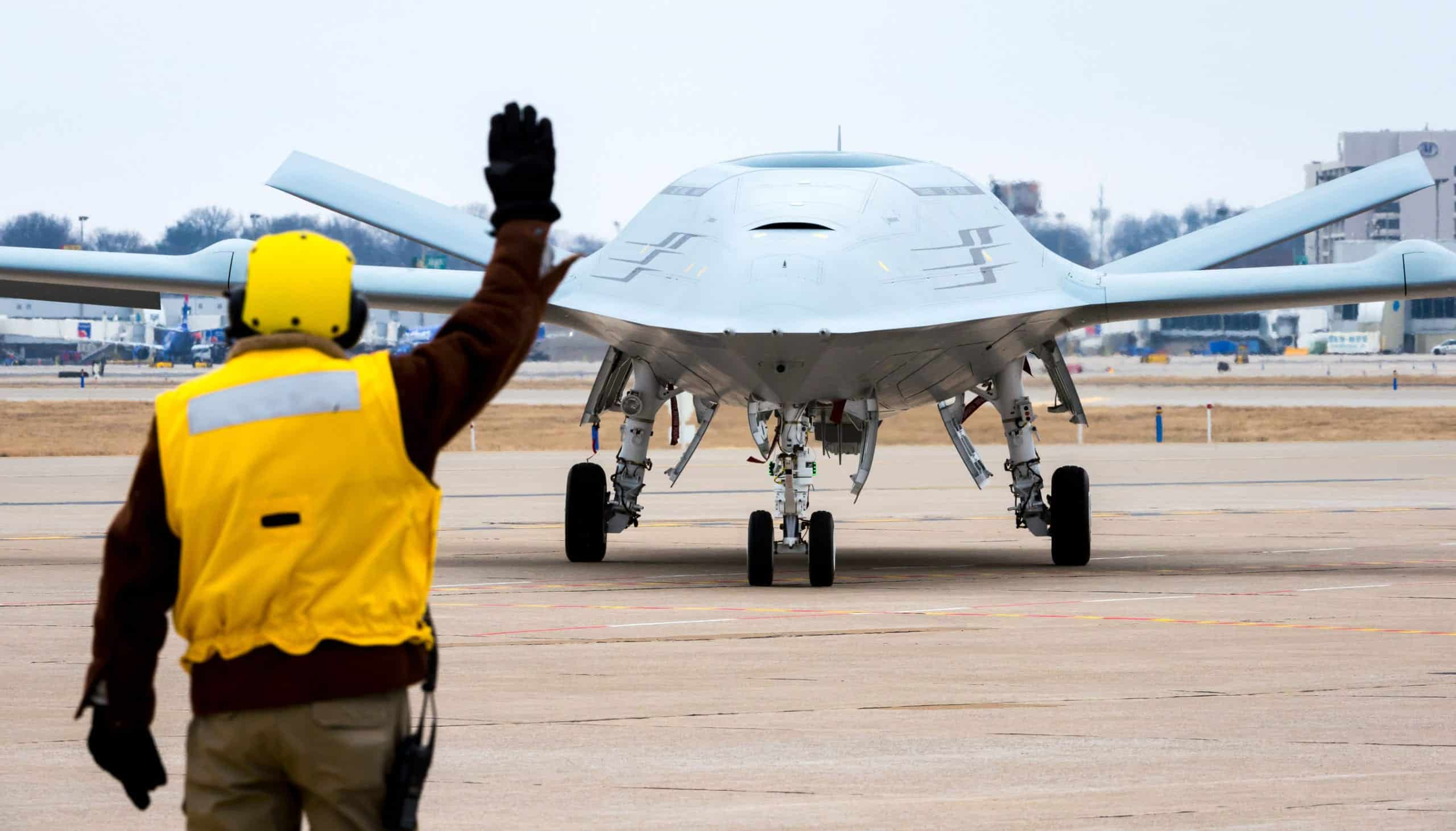 US Navy MQ-25 unmanned refueling aircraft