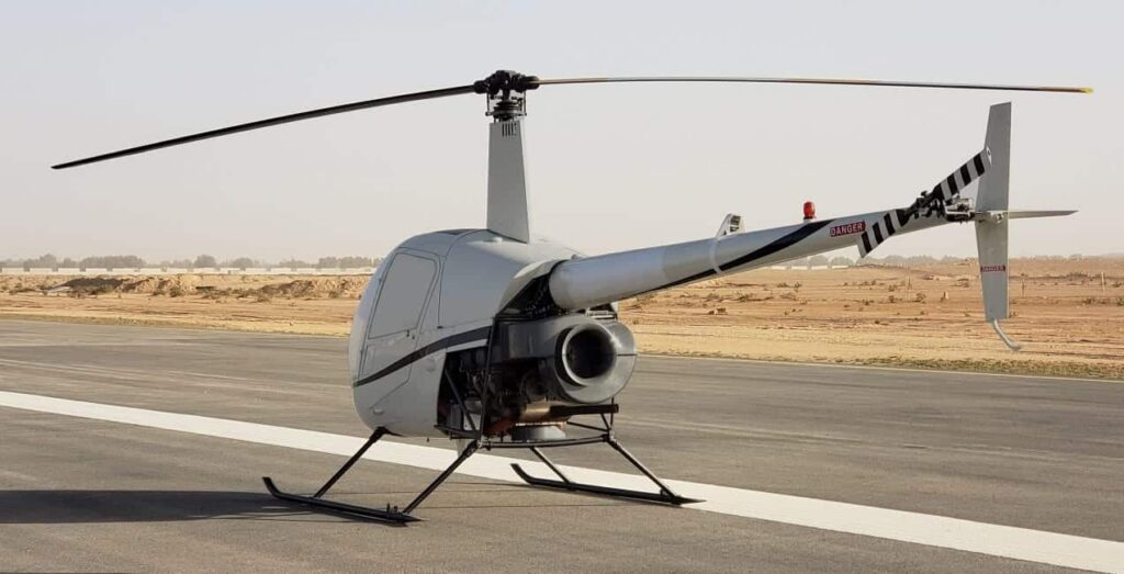 Uavos converted unmanned helicopter
