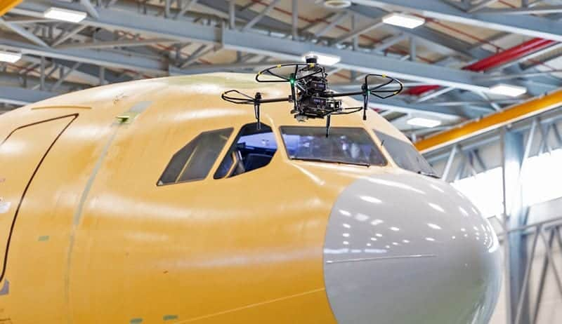 Airbus drone-based aircraft inspection