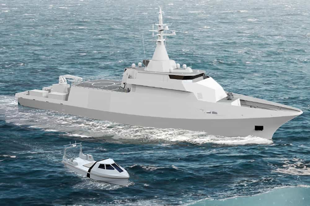 Belgian and Dutch navy minehunting vessel