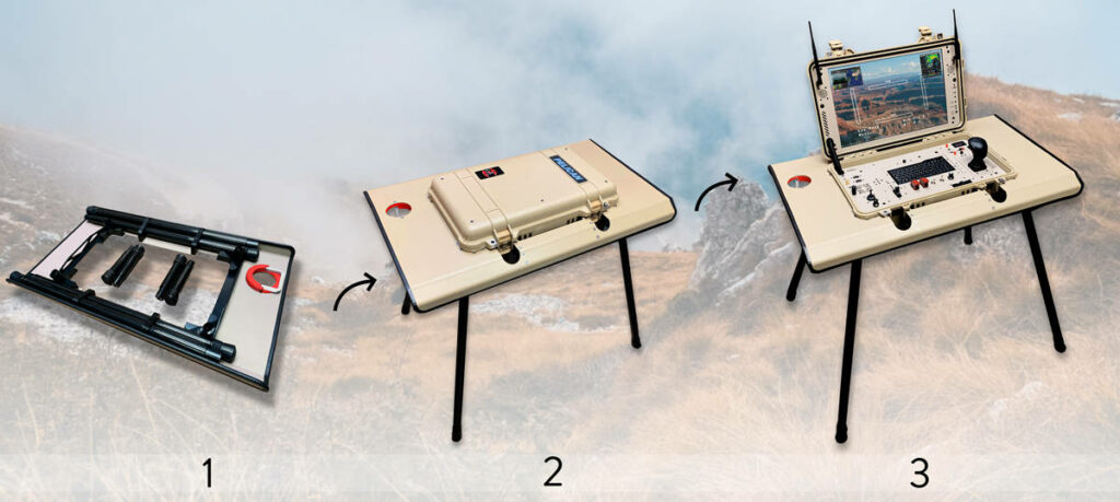 Collapsible Rugged GCS Stands