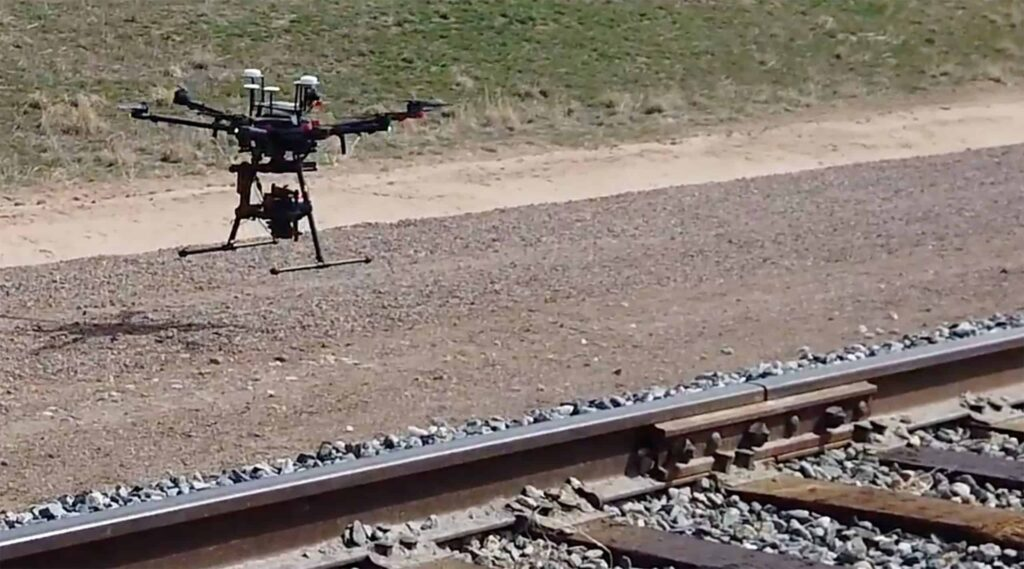 Drone-based railway inspection