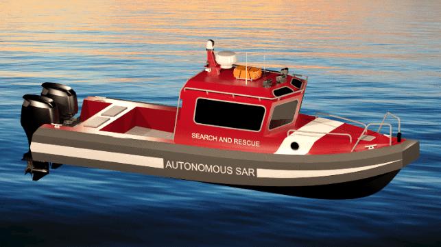 Sea Machines autonomous search and rescue vessel