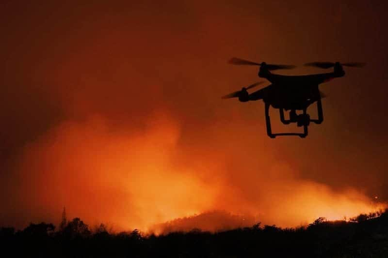 Drone-based forest fire detection
