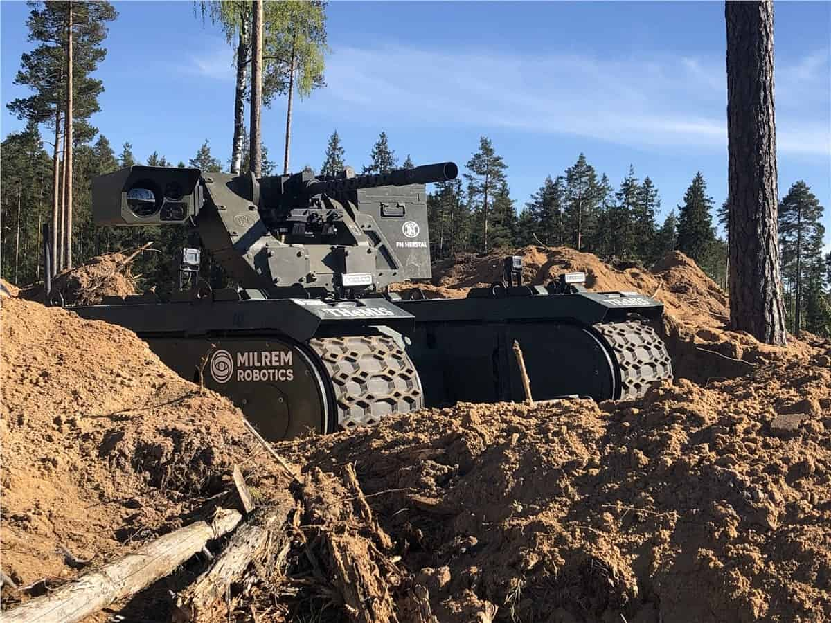 Milrem Robotics weaponised UGV