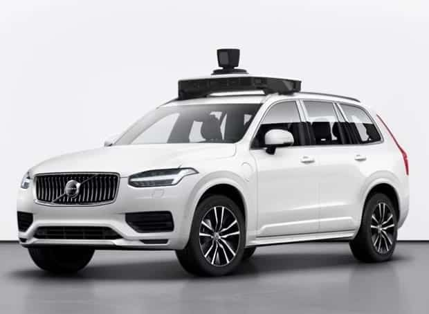 Volvo and Uber self-driving car