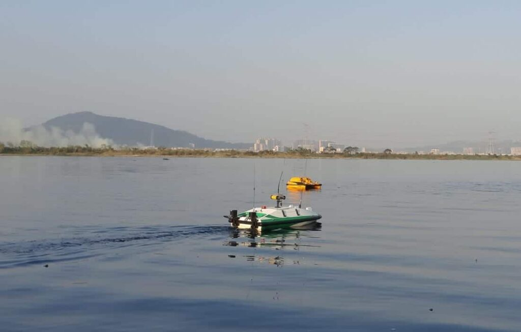 OceanAlpha TC40 USV pollution detection