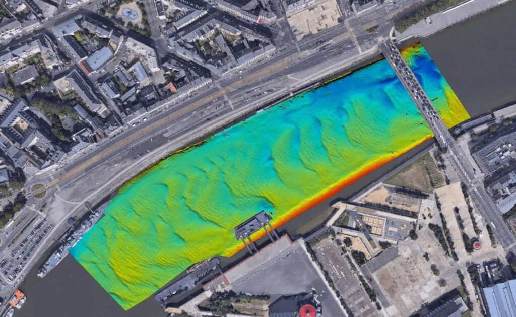 Nearly raw data overlaying in a 3D Google earth view