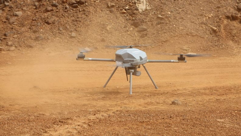 Quadcopter drone deployed in Mali