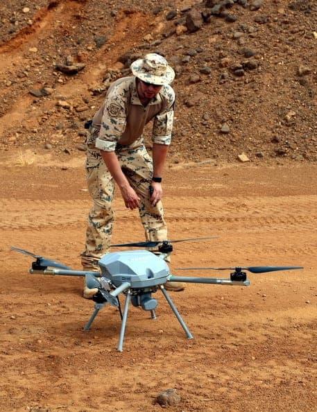 VTOL UAV deployed in Mali