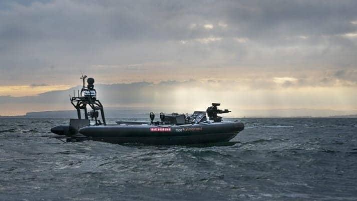 BAE Systems autonomous rib boat
