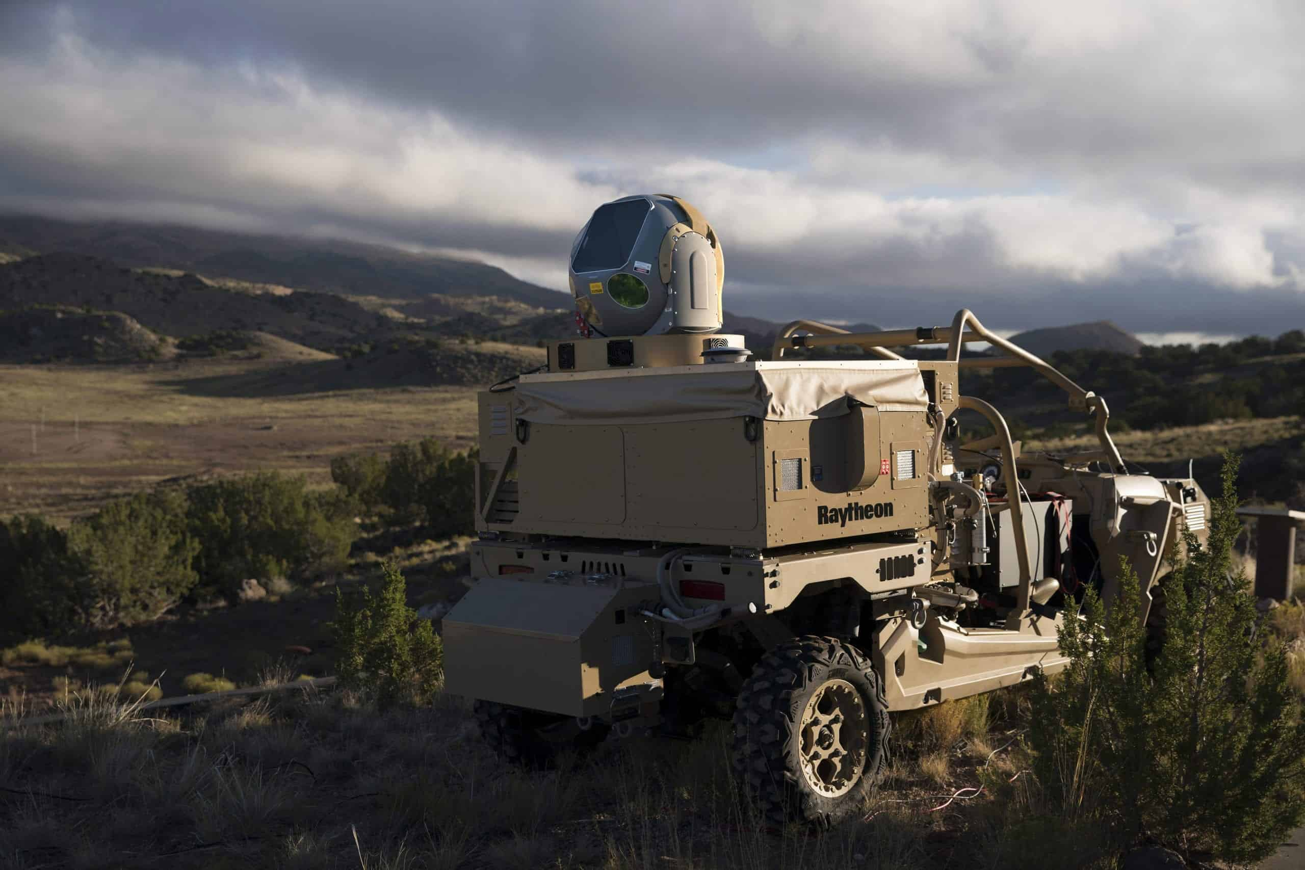 Raytheon counter-drone laser weapon