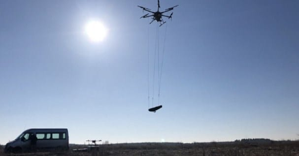 UAV aeromagnetic survey system