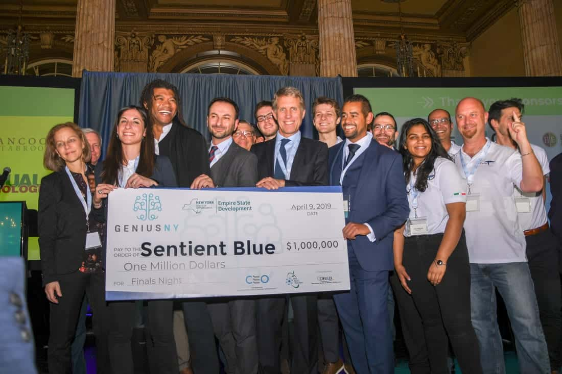 Last year's GENIUS NY winners Sentient Blue Technologies