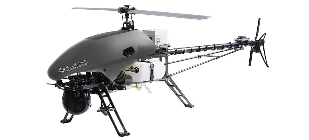 Alpha 800 surveillance helicopter drone