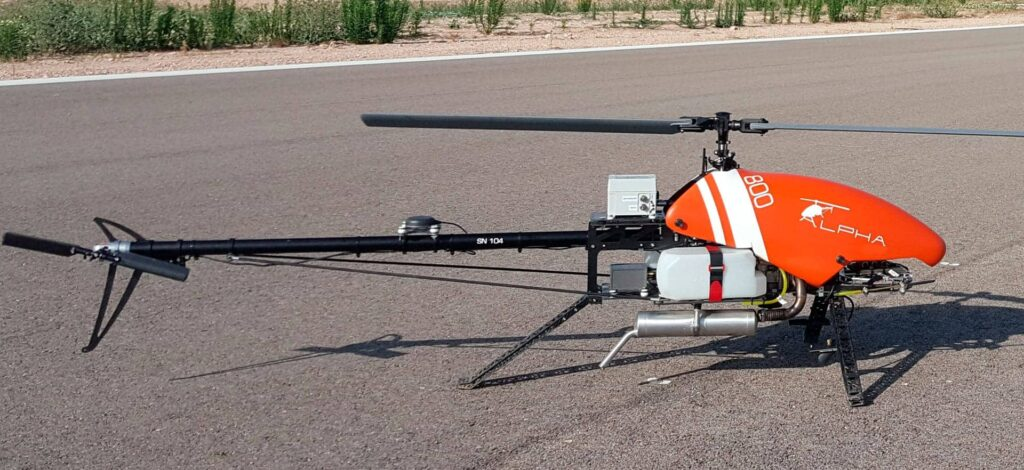 Alpha 800 tactical military drone helicopter