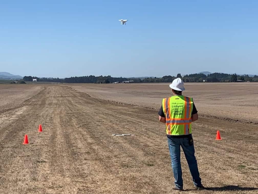 NWUAV test range inaugural flight
