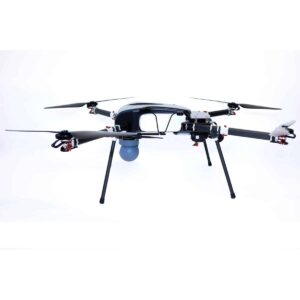 Gas electric quadcopter drone