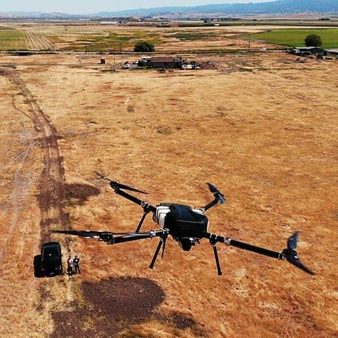 Long range quadcopter for LiDAR surveys