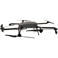 Perimeter-8 hybrid gas electric drone