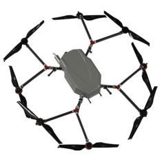 Perimeter multirotor drone