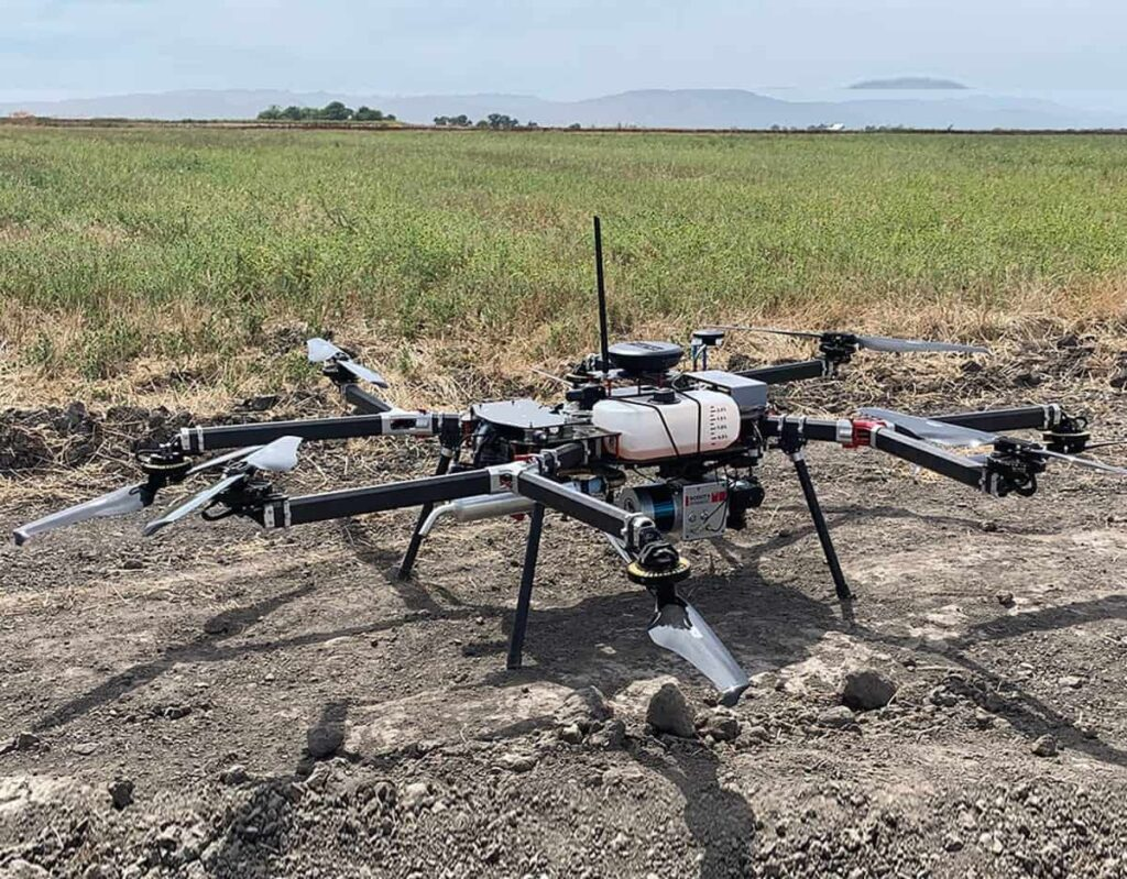 Octocopter gas electric drone