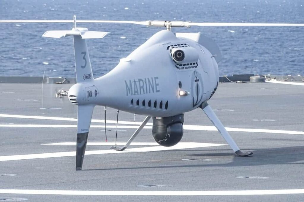 CAMCOPTER S-100 UAS on ship deck