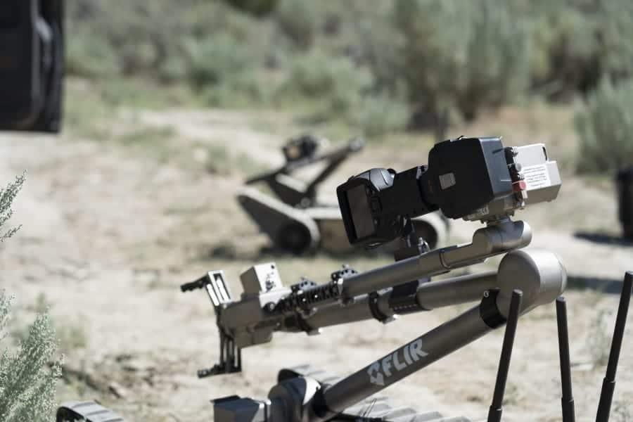 FLIR Fido X4 explosives detector on Packbot UGV