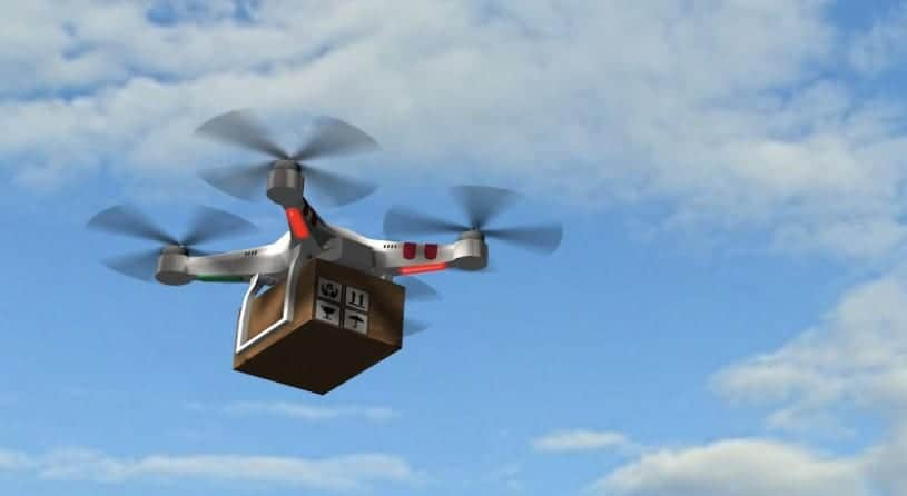 Hydrogen fuel cell drone delivery