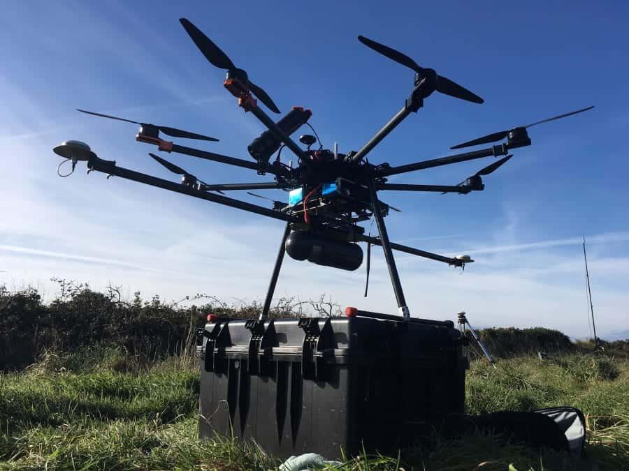 UAV with Routescene LidarPod